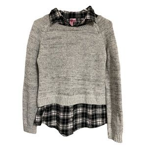 Dolled Up Gray Button Down Sweater